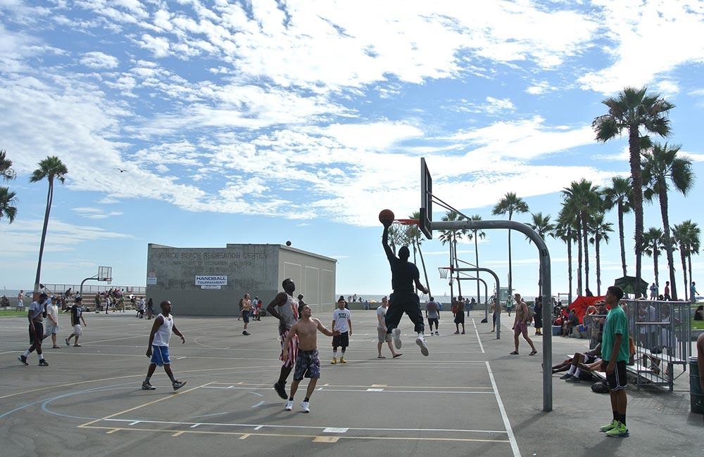 Streetball à Venice Beach