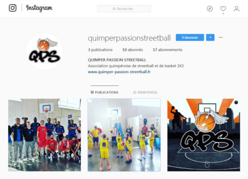 Compte Instagram de QPS