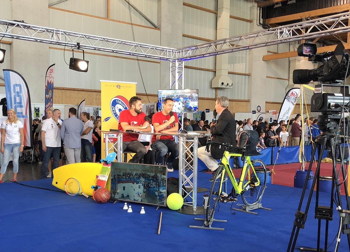 Présentation de QPS et du basket 3x3 sur Tébéo - Forum des Clubs 2018