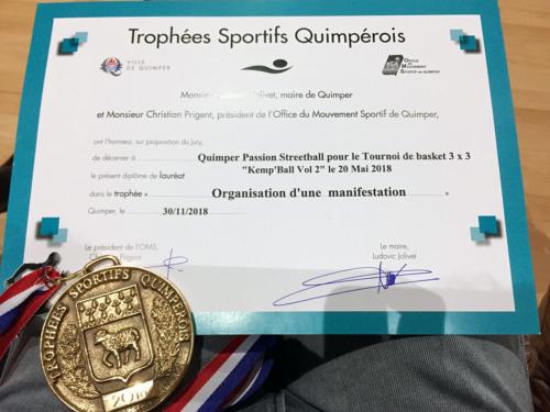 Trophées Sportifs Quimpérois 2018